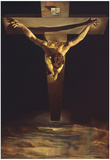 Dali Christ of St John of the Cross Art Print Poster Billeder