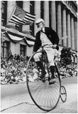 High Wheel Bicycler 1973 Archival Photo Poster Posters