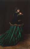 Claude Monet (The Woman in the Green Dress, Camille Doncieux) Art Poster Print Masterprint
