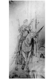 Gustave Moreau (Persian poet on a unicorn) Art Poster Print Photo