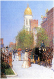 Childe Hassam One Spring Morning Art Print Poster Posters