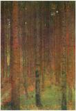 Gustav Klimt Fir Forest II Art Print Poster Posters
