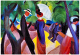 August Macke Promenade Art Print Poster Prints