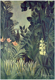 Henri Rousseau (Jungle on the equator) Art Poster Print Posters