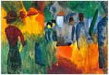August Macke People in the Park Art Print Poster Print