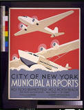 City of New York (Municipal Airports) Art Poster Print Masterprint