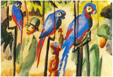 August Macke With the Parrots I Art Print Poster Posters
