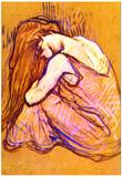 Henri de Toulouse-Lautrec Woman Combing Hair Art Print Poster Posters