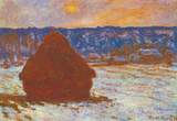 Claude Monet Haystacks Snow Covered the Sky Art Print Poster Masterprint