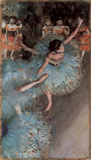 Edgar Germain Hilaire Degas (The green dancers) Art Poster Print Masterprint