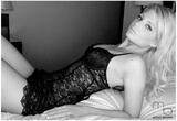 Caitlin Hixx Black Lingerie Photo Poster By Mario Brown Posters