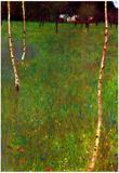 Gustav Klimt Farmhouse Large Art Print Poster Posters