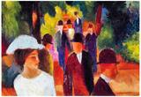 August Macke Promenade II Art Print Poster Prints