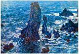 Claude Monet Rocks on Belle-Ile The Needles of Port-Coton Art Print Poster Print