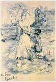 Henri de Toulouse-Lautrec Declaration Sketch Art Print Poster Prints