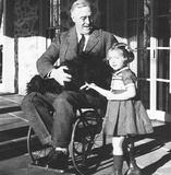 Franklin Delanor Roosevelt (In Wheelchair) Art Poster Print Masterprint
