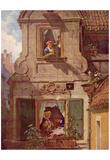 Carl Spitzweg (The love letter intercepted) Art Poster Print Prints