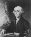 George Washington (Portrait, Black and White) Art Poster Print Masterprint