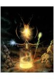 C. B. Pope (Dragon & Wizard) Art Print Poster Zdjęcie