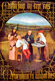 Hieronymus Bosch The Healing of Madness The Stone Operation Art Print Poster Masterprint