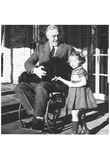 Franklin Delanor Roosevelt (In Wheelchair) Art Poster Print Poster