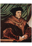 Hans Holbein d. J. (Portrait of Thomas More) Art Poster Print Posters