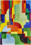 August Macke Colored Forms (I) Art Print Poster Photo