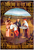 Hieronymus Bosch The Healing of Madness The Stone Operation Art Print Poster Posters