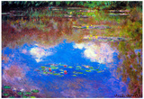 Claude Monet Water Lily Pond 4 Art Print Poster Prints