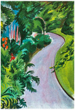 August Macke Path in the Garden Art Print Poster Prints