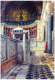 Lawrence Alma-Tadema The Interior of the Church of San Clemente, Rome Art Print Poster Posters