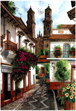 Horacio Robles Jr Old Mexico City Art Print Taxco Poster Posters
