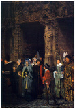 Lawrence Alma-Tadema Leaving a Church in the 15th Century Art Print Poster Photo