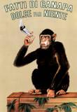Fatti Di Canapa (Dolce Far Niente, Smoking Monkey) Art Poster Print Masterprint