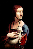 Leonardo da Vinci (Portrait of a Lady with an Ermine) Art Poster Print Masterprint
