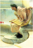 Lawrence Alma-Tadema A Reading of Homer Detail 2 Art Print Poster Posters