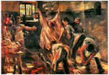 Lovis Corinth Slaughterhouse Art Print Poster Photo