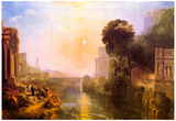 Joseph Mallord Turner Rise and Fall of Carthage Art Print Poster Prints