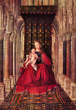 Jan Van Eyck The Virgin and Child Art Print Poster Masterprint