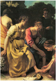 Johannes Vermeer Diana and her Nymphs Art Print Poster Posters
