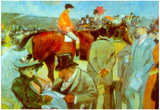 Jean-Louis Forain At the Races Art Print Poster Poster