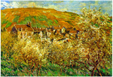 Claude Monet Flowering Apple Trees Art Print Poster Prints