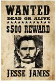 Jesse James Wanted Advertisement Print Poster Plakát
