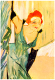 Henri de Toulouse-Lautrec Yvette Guilbert Greets the Audience Art Print Poster Posters