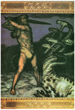 Franz von Stuck Hercules and the Hydra Art Print Poster Prints