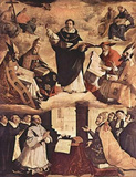 FRANCISCO DE ZURBARAN St. Thomas Aquinas ART POSTER Posters