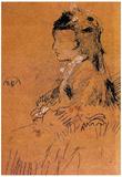 James Whistler Mrs Leyland Seated Art Print Poster Poster