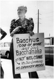 Man Protesting Topless Bar Opening 1977 Archival Photo Poster Prints