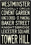 London Underground Vintage Stations Travel Poster - Resim