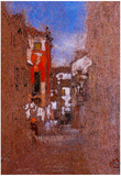 James Whistler Calle San Trovaso Venice Art Print Poster Prints